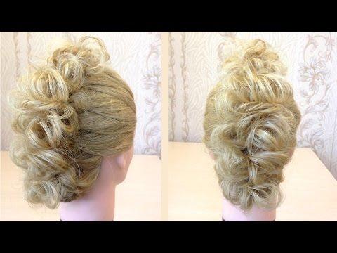 Простая прическа из косы и шпильки.Easy hairstyle.