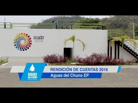 Informe de Rendición de Cuentas 2016 Aguas del Chuno EP