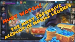 THE MOST EXPENSIVE MOBILE LEGENDS ACCOUNT IN THE WORLD | UNBELIEVABLE! (MUST WATCH)