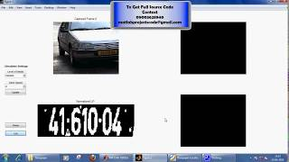 Localization of License Plate Number Using  Optical Character Recognition-MATLAB PROJECTS