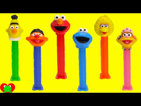 Sesame Street Pez Dispensers with Elmo and Cookie Monster