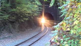 22K Coming Out of Hoosac Tunnel w/ NS 1095, 9750, and 2607 Sunday 9/29/13