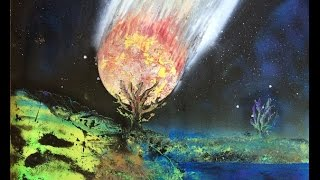 Spray Paint Art: (meteors, planets, trees, and explosions!)
