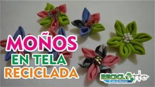DIY♻MOÑOS EN TELA / FLORES EN TELA / MONKEYS IN FABRIC / FLOWERS IN FABRIC