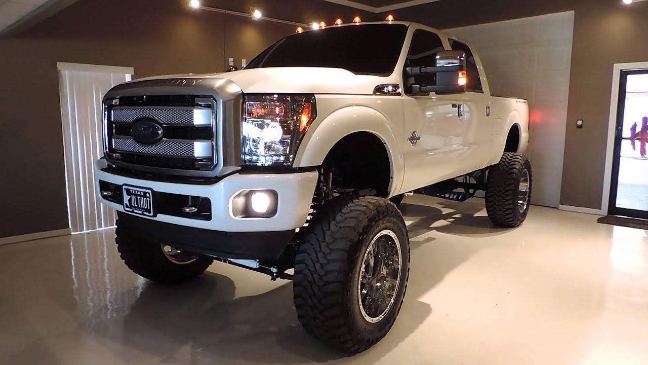 2013 Platinum Ford F250 14 Inch Lift For Sale at ULTRA HOT ...