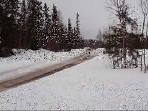 Lancia Stratos Snow Sweden Test with Kick Rally Team