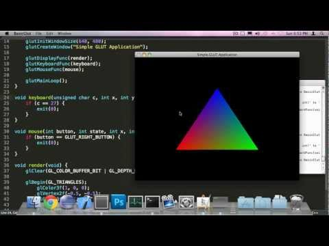 C++ OpenGL #1 -Some basic GLUT