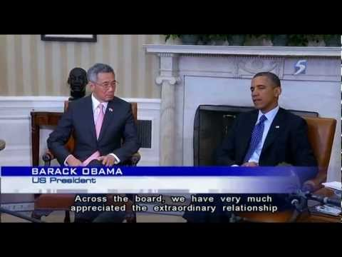 PM Lee meets Obama at the White House - 03Apr2013