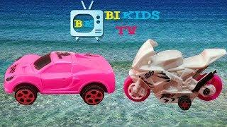 Xe ô tô đồ chơi , Xe buýt, Xe máy đồ chơi, xe máy múc đồ chơi của Bi kids TV