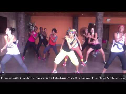 Zumba Fitness Fun with the Accra Fierce & FitTabulous Crew!
