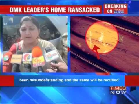 DMK leader Khushboo's house attacked.