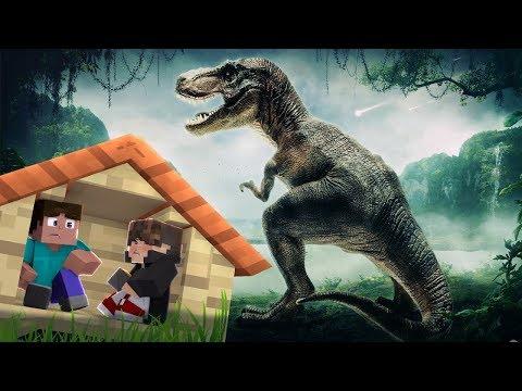 Minecraft: DESAFIO DA BASE 100% SEGURA CONTRA DINOSSAURO ‹ JUAUM ›