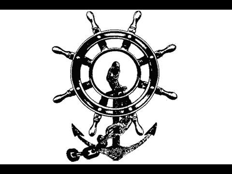 Anchor Wheel Drawing Anchor And Ship Wheel Nautical