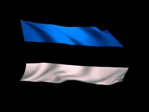 3D Rendering of the flag of Estonia waving in the wind.