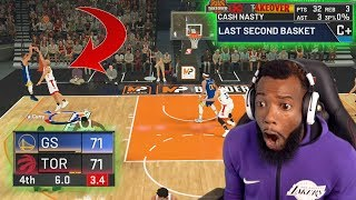 TIED GAME STEPHEN CURRY SHOOTS CONTESTED 3 POINT BUZZER BEATER! NBA 2K20