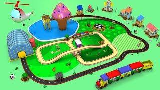 Trains for Kids - Toy Factory - Choo Choo Train - Cartoon Videos for Kids - Train