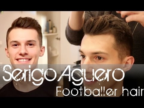 Sergio Aguero footballer look - Men's hair tutorial
