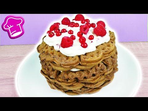 Schoko Waffel Torte mit frischen Beeren | Super leckere Sommer Torte | Schoko & Waffel Idee