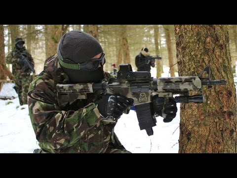 Airsoft War SCAR L, KWA M4, G&P M4, Section8 Scotland 1080p HD