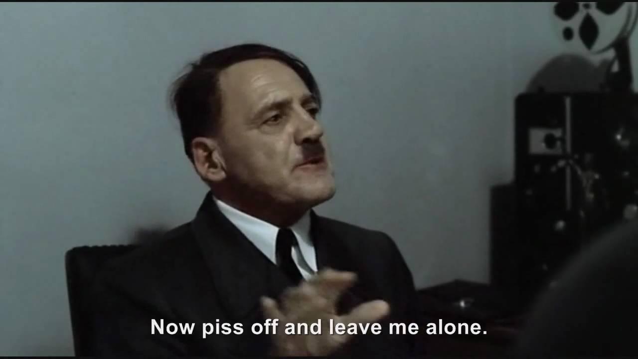 Hitler is informed he is Bruno Ganz