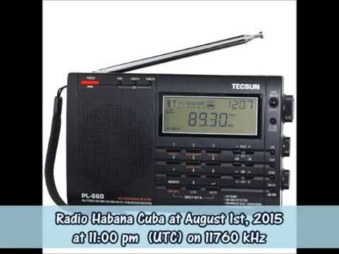 Radio Habana Cuba in Spanish at August 1st, 2015 at 11 pm (UTC) on 11760 kHz