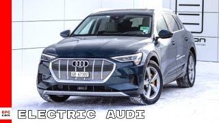 Electric Audi e-tron SUV Shuttle Service WEF Davos