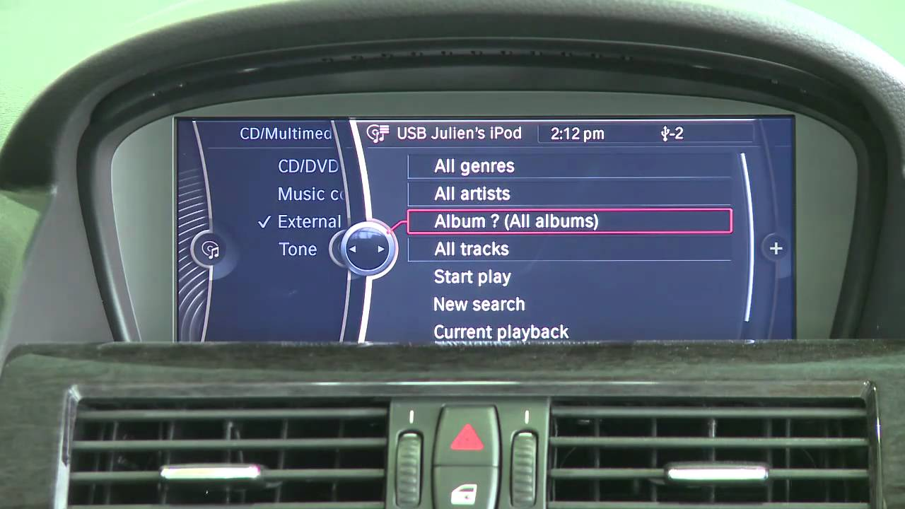 How To Connect Your Ipod To Your Bmw Idrive Youtube