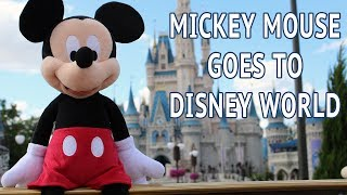 Plush Mickey Mouse Goes to Disney World! (Fun Playtime Reviews)