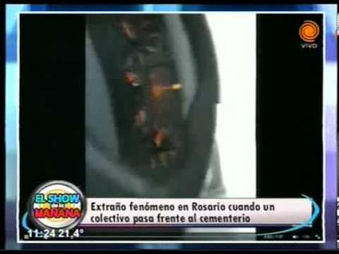 Rosario - Colectivero lleva fantasmas en Rosario 07 03 2014