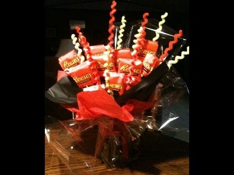 How To Make A Reeses Peanut Butter Cup Candy Bouquet