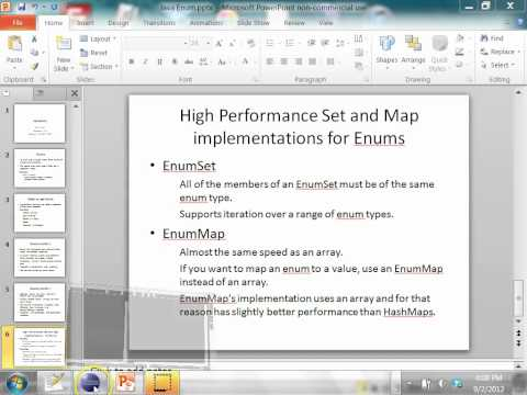 how to create an enum type java