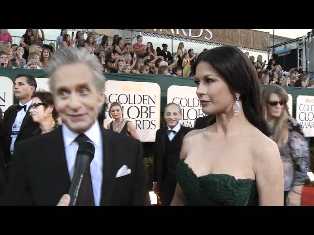 Golden Globes Red Carpet Interview: Michael Douglas &amp; Catherine Zeta-Jones