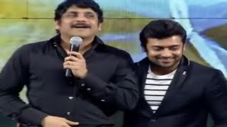 Siva Manasulo Sruthi - Nagarjuna says, Hattsoff to the Telugu Audience for receiving Surya @ Sikandar Audio Launch