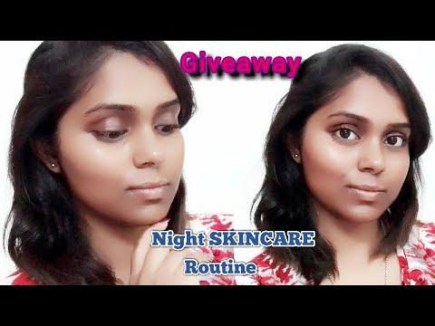 Intense Night Skincare Routine/Get Bright Skin & Giveaway Shopping Voucher Worth 1500 Rs/DEBADRITA