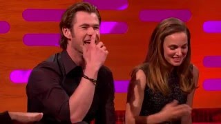 Natalie Portman and Chris Hemsworth - The Graham Norton Show 2013.