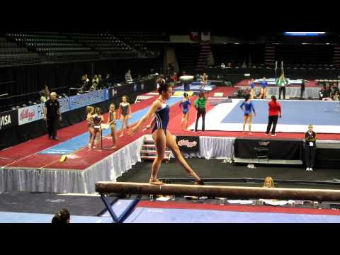 Amelia Hundley - beam - podium training - 2012 Kellogg&#039;s Pacific Rim Championships