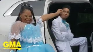 Teen serving serious prom poses gets love from millions on Facebook | GMA