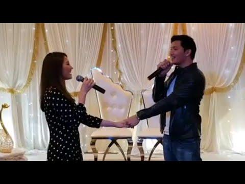Fazura & Fattah Amin nyanyi live lagu Hero Seorang Cinderella   Meet & Greet Fattzura