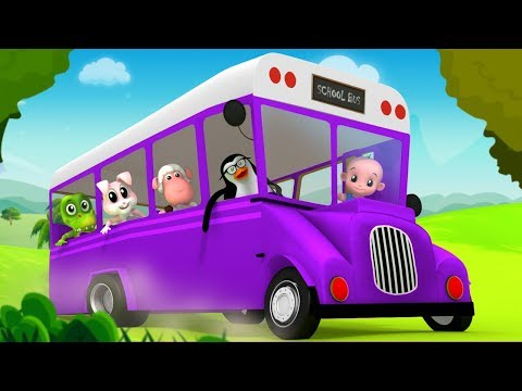 Wheels On The Bus | Bus Song | Nursery Rhymes | Kids Songs | Children Rhyme