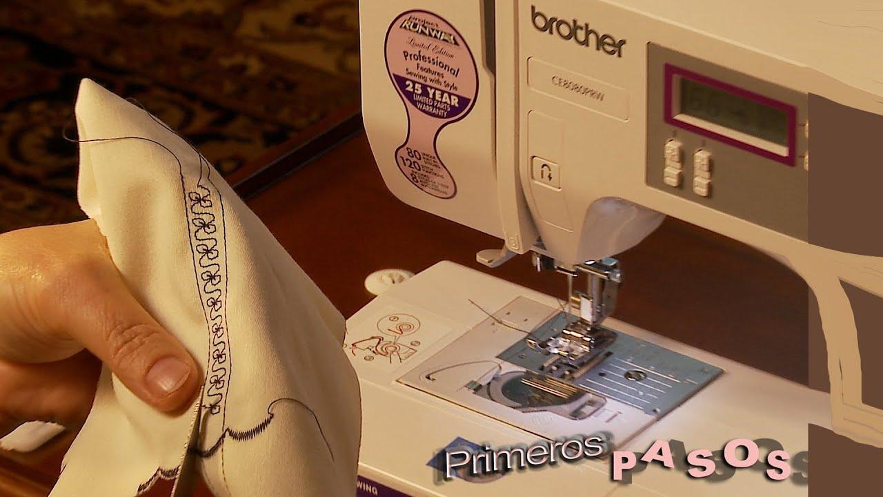 Primeros pasos con Brother CE8080PRW la maquina de coser