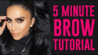 5 Minute Brow Tutorial for Beginners using only Pencil | Lilly Ghalichi Mir
