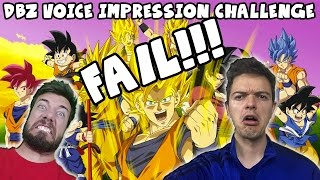 Random Dragon Ball Z Voice Impression Challenge FAIL!!! | DBXV Battles