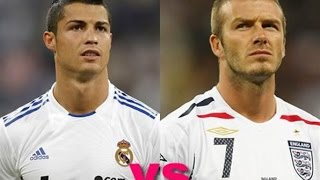 Cristiano Ronaldo vs David Beckham ● top 10 free kick goals