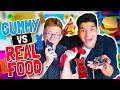 Download Video GUMMY vs. REAL FOOD! MP3 3GP MP4 FLV WEBM MKV Full HD 720p 1080p bluray
