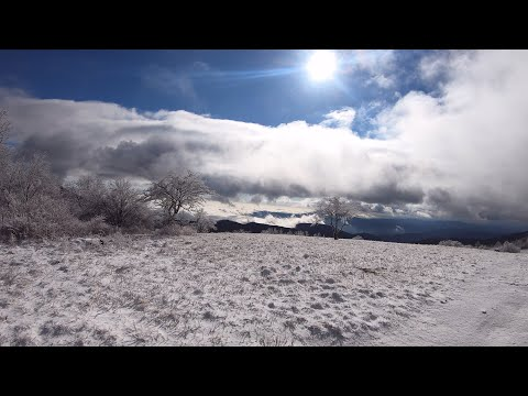 Backpacking Virginia's Cole (aka 'Cold') Mountain in December Light Snow