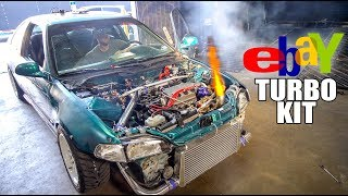 $600 EBAY TURBO CIVIC SHOOTING FLAMES!! (Dyno Day)