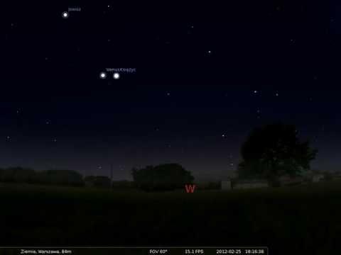 25.02.2012 Koniunkcja Księżyca z Wenus 19:00