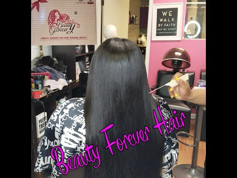 Salon Work (Middle Part Sew In) Feat. Beauty Forever Hair