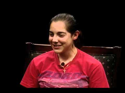 OLLU Cross-Country's Miriam Vazquez and Coach Sherman (11-19-10)