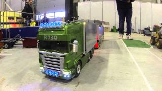Oslo Motorshow 2014 - R/C Scania R730 road train